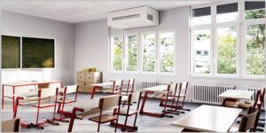 Lüftungstechnik gegen Aerosole und Viren in Schulen